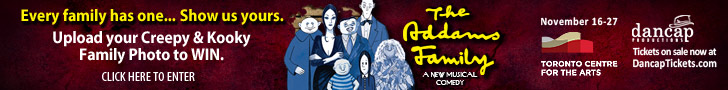 Addams family enter contest 728 x 90 banner advertisement