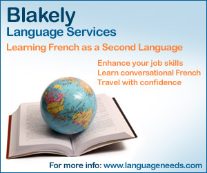 Commercial Medium Rectangle for Blakely Language Services by bannerite