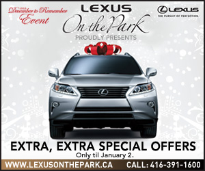 Stylish Big Box banner ad for Lexus